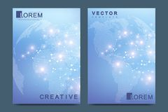 Modern vector template for brochure Leaflet, flyer advert cover catalog magazine or annual report. Business, science Royalty Free Stock Images