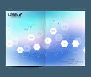Modern vector template for brochure, Leaflet flyer, advert, cover, catalog, magazine or annual report. Business, science Royalty Free Stock Photography