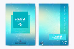 Modern vector template for brochure, Leaflet, flyer, advert, cover, catalog, magazine or annual report. Geometric Stock Image