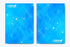 Modern vector template for brochure, Leaflet, flyer, advert, cover, catalog, magazine or annual report. Geometric Royalty Free Stock Image