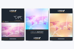 Modern vector template for brochure, Leaflet, flyer, advert, cover, catalog, magazine or annual report. Geometric Stock Photography