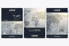 Modern vector template for brochure, Leaflet, flyer, advert, cover, catalog, magazine. Or annual report. Geometric background communication with Political World vector illustration
