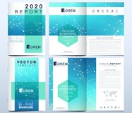 Modern vector template for brochure, Leaflet, flyer, advert, cover, catalog, magazine or annual report. Geometric. Pattern with connected lines and dots vector illustration