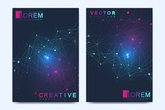 Modern vector template for brochure, Leaflet, flyer, advert, cover, catalog, magazine or annual report. Geometric Stock Photos