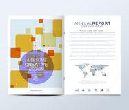 Modern vector template for brochure, Leaflet, flyer, advert, cover, catalog, magazine or annual report. Random squares. Pattern. Abstract geometrical simple vector illustration