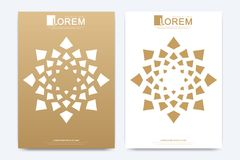 Modern vector template for brochure, Leaflet, flyer, advert, cover, magazine or annual report. A4 size. Islamic design. Book layout. Abstract golden vector illustration