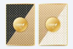 Modern vector template for brochure, Leaflet, flyer, advert, cover, magazine or annual report. A4 size. Islamic design. Book layout. Abstract golden stock illustration