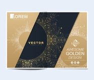 Modern vector template for brochure, leaflet, flyer, cover, banner, catalog, magazine, or annual report in A4 size. Futuristic science and technology design royalty free illustration