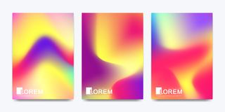 Modern vector template for brochure leaflet flyer cover banner catalog in A4 size. Abstract fluid 3d shapes vector. Trendy liquid colors backgrounds set royalty free illustration