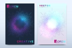 Modern vector template for brochure, leaflet, flyer, cover, catalog, magazine or annual report in A4 size. Business stock illustration