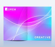 Modern vector template for brochure, leaflet, flyer, cover, catalog, magazine or annual report in A4 size. Business. Science and technology design book layout royalty free illustration