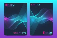Modern vector template for brochure, leaflet, flyer, cover, catalog, magazine, banner or annual report. A4 size. Business, science and technology design with stock illustration