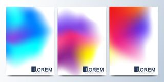 Modern vector template for brochure, leaflet, flyer, cover, catalog in A4 size. Abstract fluid 3d shapes vector trendy Stock Photography