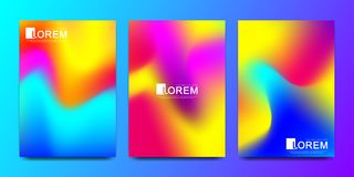 Modern vector template for brochure, leaflet, flyer, cover, catalog in A4 size. Abstract fluid 3d shapes vector trendy. Liquid colors backgrounds set. Colored royalty free illustration