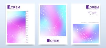 Modern vector template for brochure, leaflet, flyer, cover, catalog in A4 size. Abstract fluid 3d shapes vector trendy. Liquid colors backgrounds set. Colored stock illustration