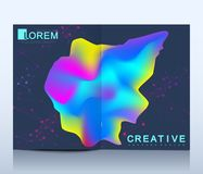 Modern vector template for brochure, leaflet, flyer, cover, catalog in A4 size. Abstract fluid 3d shapes vector trendy. Liquid colors backgrounds. Colored fluid royalty free illustration