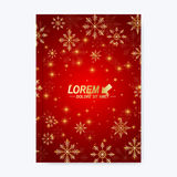 Modern vector template for brochure, leaflet, flyer, cover, magazine or annual report.. Christmas and Happy New Years Layout in A4 size. Holidays book layout Stock Images