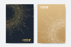 Modern vector template for brochure, Leaflet, flyer, cover, magazine or annual report. A4 size. Business, science. Medicine and technology design book layout Stock Photos