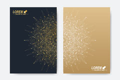 Modern vector template for brochure, Leaflet, flyer, cover, magazine or annual report. A4 size. Business, science Royalty Free Stock Photo