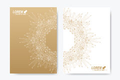 Modern vector template for brochure, Leaflet, flyer, cover, magazine or annual report. A4 size. Business, science Royalty Free Stock Images