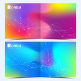 Modern vector template for square brochure, leaflet, flyer, cover, catalog, magazine, annual report. Abstract fluid 3d. Shapes vector trendy liquid colors Stock Images