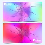 Modern vector template for square brochure, leaflet, flyer, cover, catalog, magazine, annual report. Abstract fluid 3d. Shapes vector trendy liquid colors Stock Image
