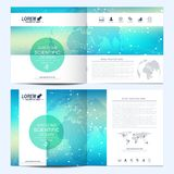 Modern vector template for square brochure, leaflet, flyer, cover, catalog, magazine, annual report. Business, science. And technology design book layout vector illustration