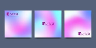 Modern vector template for square brochure leaflet flyer cover catalog poster advert . Abstract fluid 3d shapes trendy. Liquid colors backgrounds set. Colored Royalty Free Stock Photo