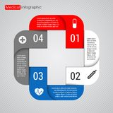 Modern vector template for your medical project Stock Image