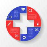 Modern vector template for your medical project Stock Photography