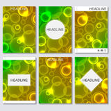 Modern vector templates for brochure, flyer, cover magazine or report in A4 size, Abstract blurred background. Royalty Free Stock Images