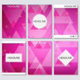 Modern vector templates for brochure, flyer, cover magazine or report in A4 size. Royalty Free Stock Photos