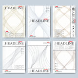 Modern vector templates for brochure, flyer, cover magazine or report in A4 size. Business, science, medicine and Stock Photo