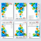Modern vector templates for brochure, flyer, cover magazine or report in A4 size. Business, science, medicine and Royalty Free Stock Photos