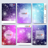 Modern vector templates for brochure, flyer, cover magazine or report in A4 size. Business, science, medicine and Stock Photography