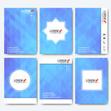 Modern vector templates for brochure, flyer, cover magazine or report in A4 size. Business, science, medicine and Royalty Free Stock Images
