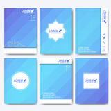 Modern vector templates for brochure, flyer, cover magazine or report in A4 size. Business, science, medicine and Royalty Free Stock Image