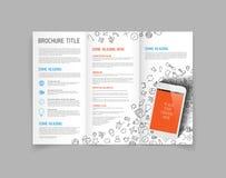Free Modern Vector Three Fold Brochure Design Template Stock Photos - 47443483