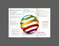 Modern Vector three fold brochure design template Royalty Free Stock Photography
