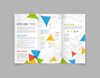 Modern Vector three fold brochure design template. Modern Vector three fold brochure / leaflet / flyer design template with triangles Royalty Free Stock Photography