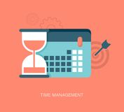 Modern vector time management illustration Stock Photo