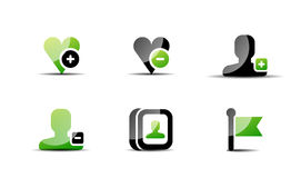 Modern vector web green & black icon set Royalty Free Stock Photography