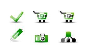 Modern vector web green & black icon set Stock Photos