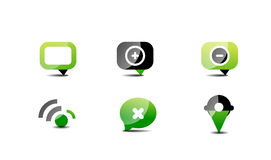 Modern vector web green & black icon set Royalty Free Stock Image