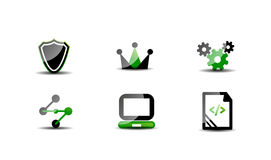 Modern vector web green & black icon set Stock Image