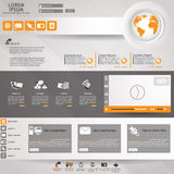 Modern Vector Website Design Template Royalty Free Stock Photography
