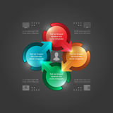 Modern Vectorinfographics-Malplaatje. 3D Cirkelsdiagram. Vectoreps10-Illustratieontwerp Royalty-vrije Stock Foto's