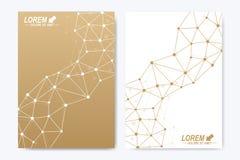 Modern vectormalplaatje voor brochure, Pamflet, vlieger, dekking, boekje, tijdschrift of jaarverslag Gouden presentatieboek vector illustratie