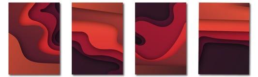 Modern vectormalplaatje voor brochure, pamflet, vlieger, dekking, catalogus in A4 grootte Abstracte vloeibare 3d vormen vector in stock illustratie