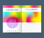 Modern vectormalplaatje voor brochure, pamflet, vlieger, dekking, catalogus in A4 grootte Abstracte vloeibare 3d in vormenvector Stock Foto